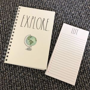 Rae Dunn spiral notebook and List pad